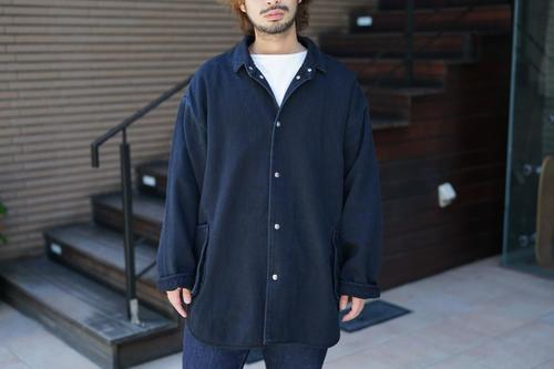 Porter Classic - PC KENDO SHIRT JACKET W/SILVER BUTTONS - DARK NAVY